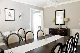 gray wall paint transitional dining room benjamin moore
