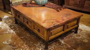 rustic copper coffee table the room looks classic with using