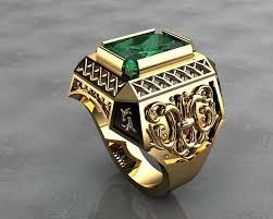 mens rings com images Gold signet rings mens rings 3d printable model cgtrader jpg