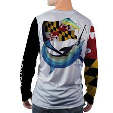 Maryland Flag Socks Guy Harvey 2017 State Collection Maryland Mens Ls Performance Shirt