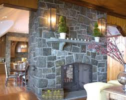 modern stone fireplace wall ideas color design decoration