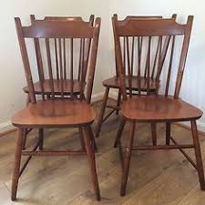 set of 6 temple stuart windsor chairs cabin dining room