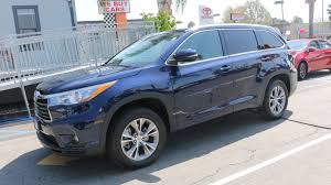 toyota highlander 2015 certified used 2015 blue toyota highlander xle suv at toyota of