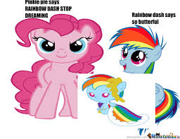 Pinkie Pie And Rainbow Dash Pinkie Pie And Rainbow Dash As Ault And Baby By Rockygirl Meme Center