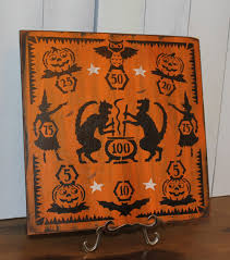 halloween game board dime toss penny vintage style carnival
