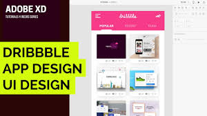 dribbble adobe xd tutorial 002 dribbble home screen ui design in adobe xd