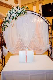 wedding arch lace eautiful wedding arch for marriage decorated with lace fabric an