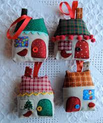 these little houses are great banister decorations christmas