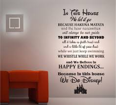 details about we do disney house rules vinyl wall art sticker in this house we do disney 2 wall sticker disney quotes children s transfer