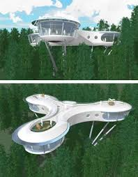 Sustainable House Plans Futuristic Growing Tree House Design Eco Architecture
