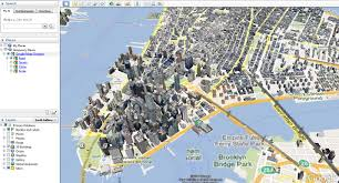 g00gle map turning on map view in earth geographic information