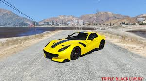 ferrari yellow and black ferrari f12 tdf liveries gta5 mods com