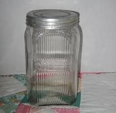 glass kitchen canisters vintage glass coffee canister jar sold on ruby lane