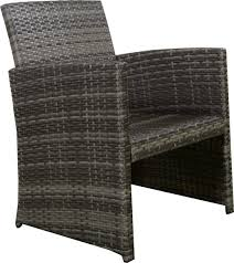 Newport Wicker Patio Furniture 4pc Gray Rattan Wicker Outdoor Patio Furniture Set