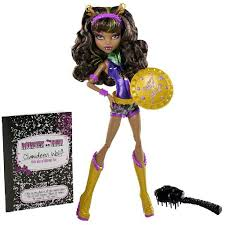 Monster High Halloween Wolf Doll by Power Ghoul Clawdeen Wolf Aka Wonder Wolf Doll And Barbie