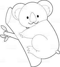 easy coloring animals for kids koala stock vector art 519271986