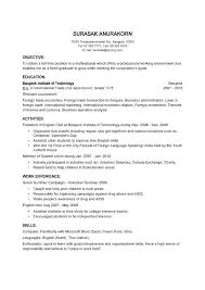 resume for first time job no experience how to write a resume for a part time job best basic resume
