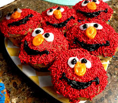 elmo cupcakes elmo and cookie cupcakes diy sesame desserts