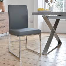 Dining Chairs Grey Loop Leg Dining Chair Grey Dwell