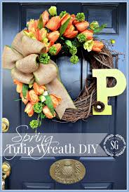 spring tulip wreath diy stonegable