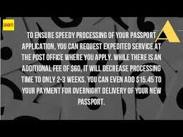 how long does it take to get a passport at the post office youtube