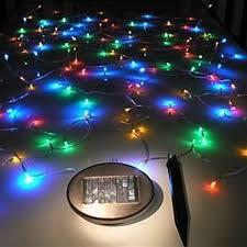 aleko 50 led solar powered string lights multicolor