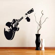 compare prices on guitar wall decals online shopping buy low poomoo wall decals new guitar guitarist music wall stickers decor mural art decals home decal