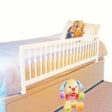 barandillas para camas barrera de cama larga madera blanca segurbaby