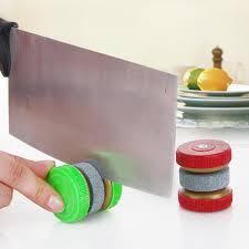 honana mini kitchen knife sharpener stone abrader two grinding
