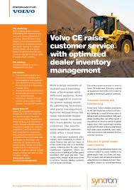 volvo global site volvo construction equipment service parts inventory management case u2026
