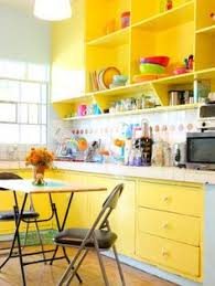 Bright Colored Kitchens - want to amp up a neutral kitchen try a bright yellow island