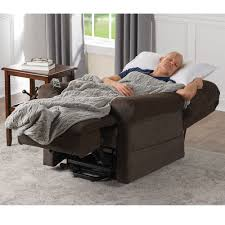the sleep and assisted lift recliner hammacher schlemmer