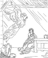 angel appears to mary flying from the sky coloring pages bulk color