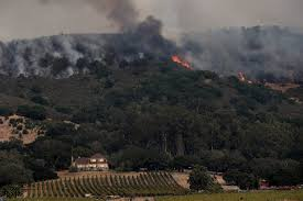 Wildfire Casino On Sunset by Wineries At Risk As Wildfires Rage In Northern California