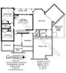 Cottage House Plans With Basement Blueridge Cottage House Plan House Plans By Garrell Associates Inc