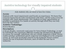 Assistive Technology For Blindness And Low Vision Assistive Technology