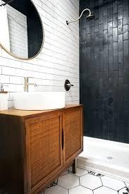 Tiles Black Subway Tile Bathroom Ideas White Subway Tile