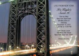 New York City Themed Party Decorations - george washington bridge invitation party2 pinterest george
