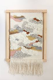 basic diy loom hand woven wall hanging as personal signature
