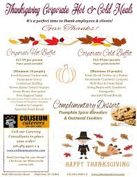 thanksgiving specials coliseum kitchen caterers