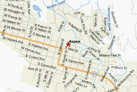 aspen map map of downtown aspen co