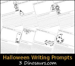 free halloween themed writing prompts 3 dinosaurs