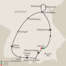 Rothenburg Germany Map by Itinerary Bavarian Highlights With Oberammergau 2020