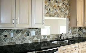 kitchen backsplash ideas with black granite countertops backsplashes with black granite countertops antiqued travertine