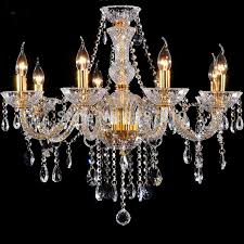 Crystal And Gold Chandelier Aliexpress Buy 8 Arms Gold Crystal Chandelier Lamp Light Unique 17