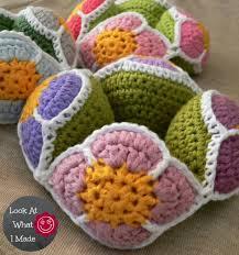 Free Pattern For Crochet Flower - crochet flower ball amish puzzle ball free pattern crochet board