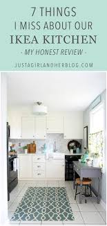 why the little white ikea kitchen is so popular 7 things i miss about our ikea kitchen just a girl and her blog