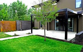 Poured Concrete House by Modern Steel Arbor And Poured Concrete Water Feature In Denver U0027s