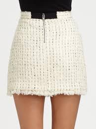 tweed skirt lyst gabel tweed skirt in white