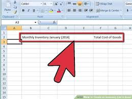 How To Create An Inventory Spreadsheet 4 Ways To Create An Inventory List In Excel Wikihow